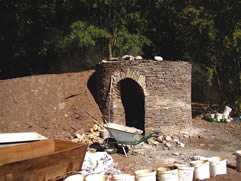 Reproduction working medieval lime kiln